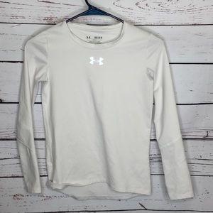 Under Armour white compression shirt